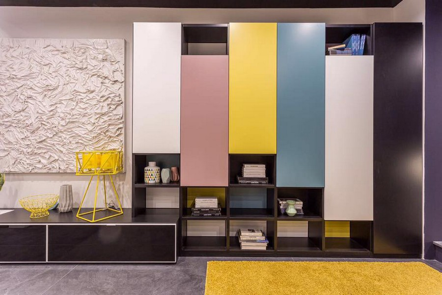 5-3-Tumidei-new-collection-of-contemporary-style-furniture-at-Salone-de-Mobile-Exhibition-Milan-2017-multicolor-living-room-cabinets-pink-yellow-blue-white-doors