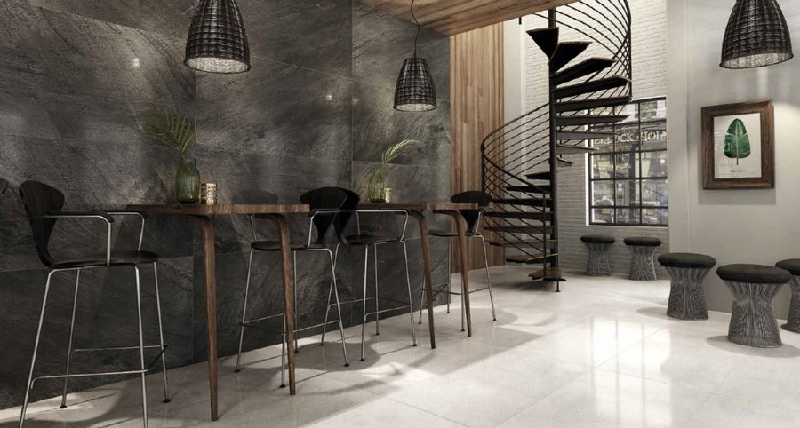5-7-ceramic-tiles-in-cafe-interior-design-gray-walls-floor-Todagres-brand-collection-2017