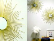 DIY: How to Make a Designer Sunburst Mirror with Your Own Hands