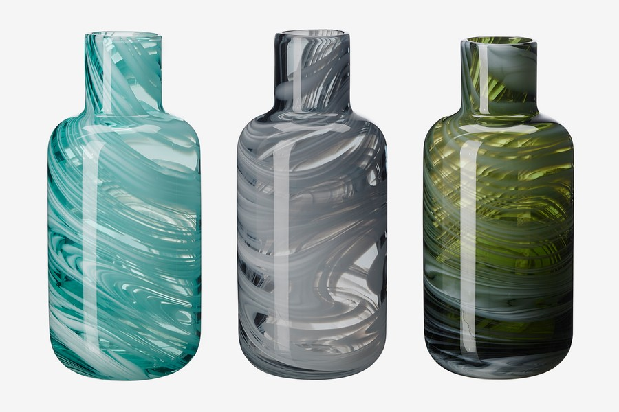 5-marble-effect-beautiful-PS-collection-2017-vases-by-IKEA-mouth-blown-made-from-leftover-multicolor-recycled-glass-pieces