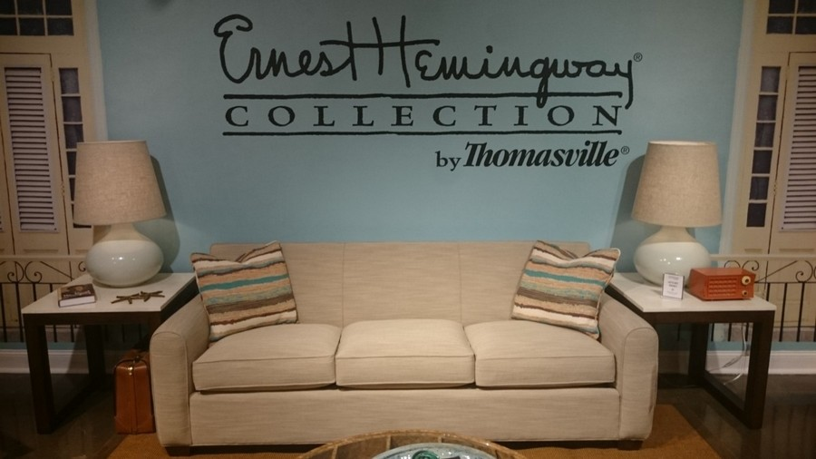 6-1-Ernest-Hemingway-collection-by-Thomasville-Cuban-style-beige-living-room-suite-set-three-seat-sofa-two-symmetrical-coffee-table-lamps
