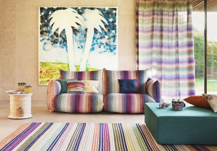 6-1-Missoni-new-collection-of-contemporary-style-furniture-at-Salone-de-Mobile-Exhibition-Milan-2017-stripy-multicolor-home-textile-rug-sofa-upholstery-curtains