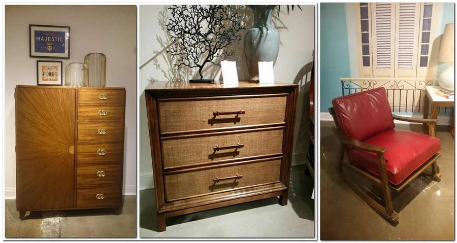 6-3-cuban-style-cabinet-chest-of-drawers-solid-natural-wood-rocking-chair-with-red-leather-cushion-backrest-seat
