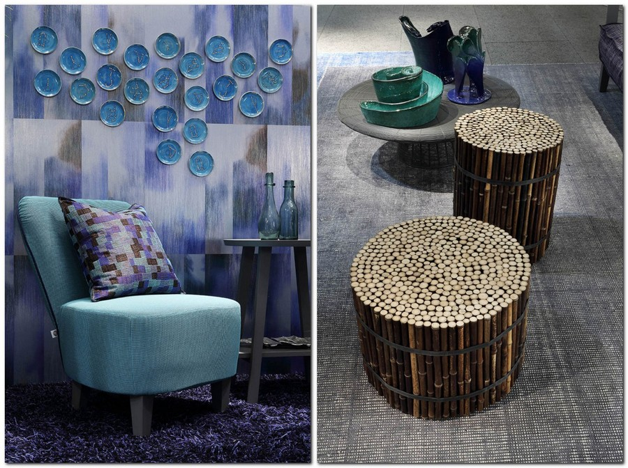 6-6-Gervasoni-new-collection-of-contemporary-style-furniture-at-Salone-de-Mobile-Exhibition-Milan-2017-blue-arm-chair-throw-pillow-decorative-wall-plates-bamboo-coffee-table