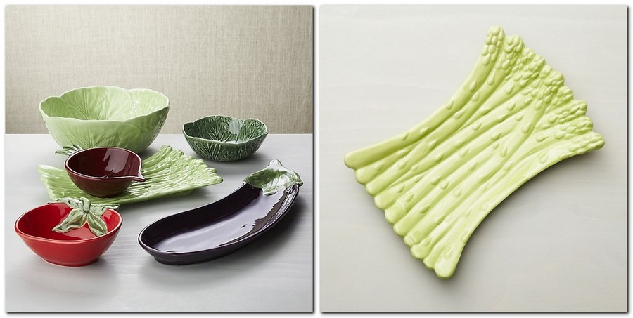 6-fresh-green-ceramic-asparagus-vegetable-shaped-serving-platter-by-Crate-and-Barrel