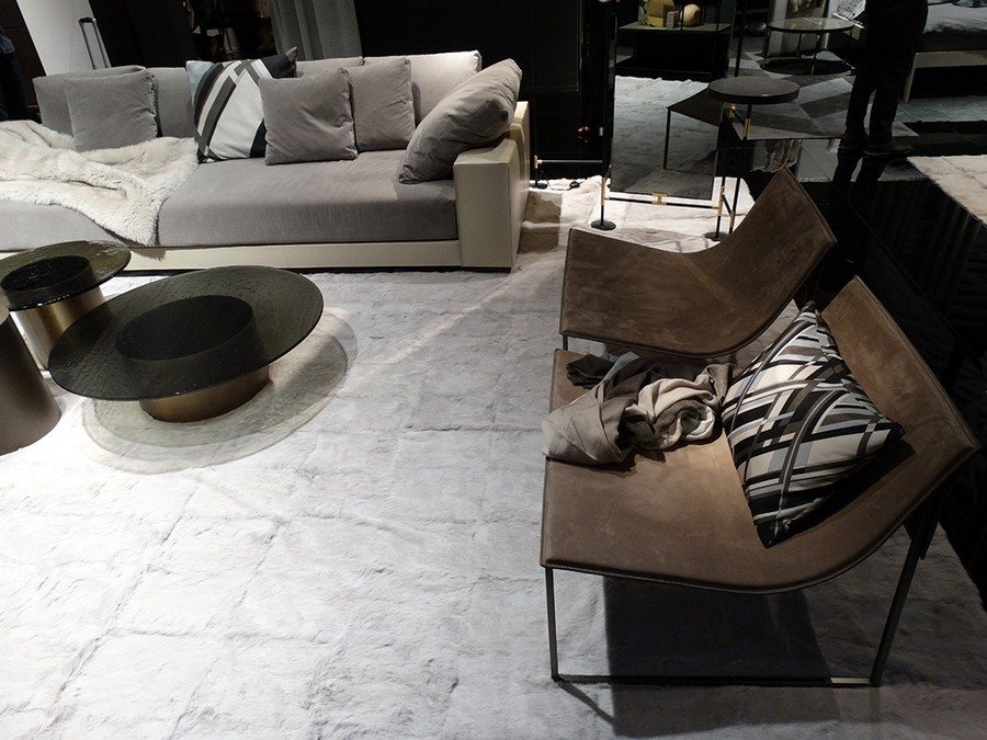 7-2-Ivanoredaelli-new-collection-of-contemporary-style-furniture-at-Salone-de-Mobile-Exhibition-Milan-2017-gray-brown-sofa-arm-chairs-coffee-table