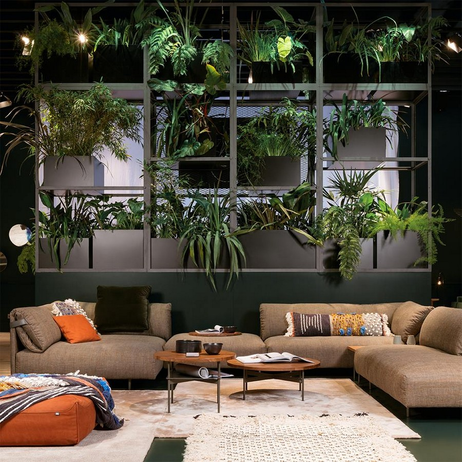 8-6-Rolf-Benz-new-collection-of-contemporary-style-furniture-at-Salone-de-Mobile-Exhibition-Milan-2017-indoor-plants-flower-pots-rug-coffe-tables-corner-sofa