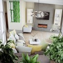 8-lounge-living-room-interior-design-eco-style-earthy-colors-gray-green-yellow-accents-many-indoor-potted-plants-coffee-table-big-corner-sofa-metal-chandelier-geometrical-wall-mirror-decor-with-floral-pattern