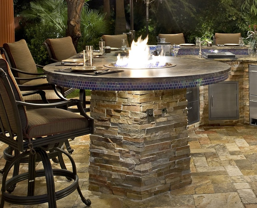 8-outdoor-summer-kitchen-interior-design-ideas-stone-worktop-countertop-fire-pit-blue-mosaic-brown-contemporary-style-bar-stools-metal-steel-cabinets