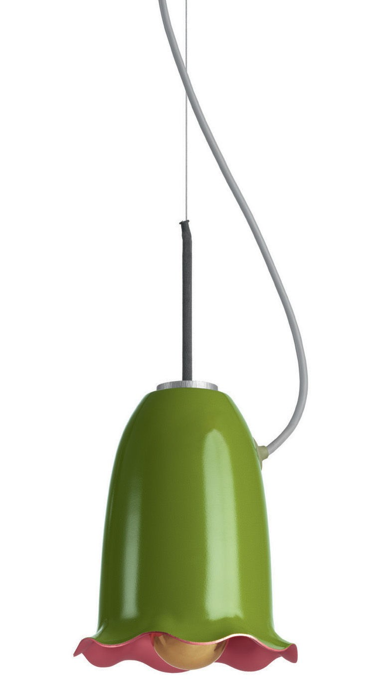 8-suspended-fresh-green-alumunum-blossom-lamp-designed-by-Hella-Jongerius-for-Belux-flower-bud-shaped-pink-inside