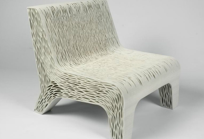 1-1-3D-printed-furniture-made-on-3D-printer-spongy-multi-layered-arm-chair-super-ergonomical-eco-design-by-Lilian-van-Daal-Dutch-Netherlands-white