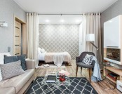 Low-Cost One-Room Interior for a Contemporary Old Lady