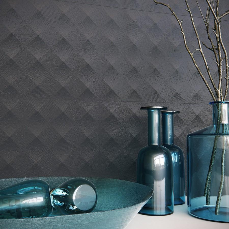 10-5-ceramic-tiles-in-interior-design-Zirconio-brand-collection-2017-dark-brown-3D-wall-tiles-bathroom
