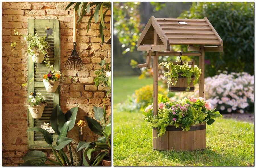 11-creative-garden-decor-ideas-wall-mounted-flower-pots-outdoor-ornamental-well