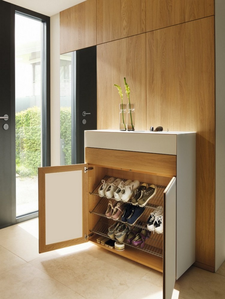 Foyer Shoe Cabinet Design : Shoe storage ideas most simple ergonomic hallway