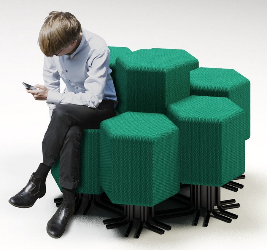 2-4-lift-bit-Italy-Vitra-Carlo-Ratti-design-modular-smart-seat-sofa-remote-digitally-transformable-controlled-furniture-upholstered-hexagonal-geometric