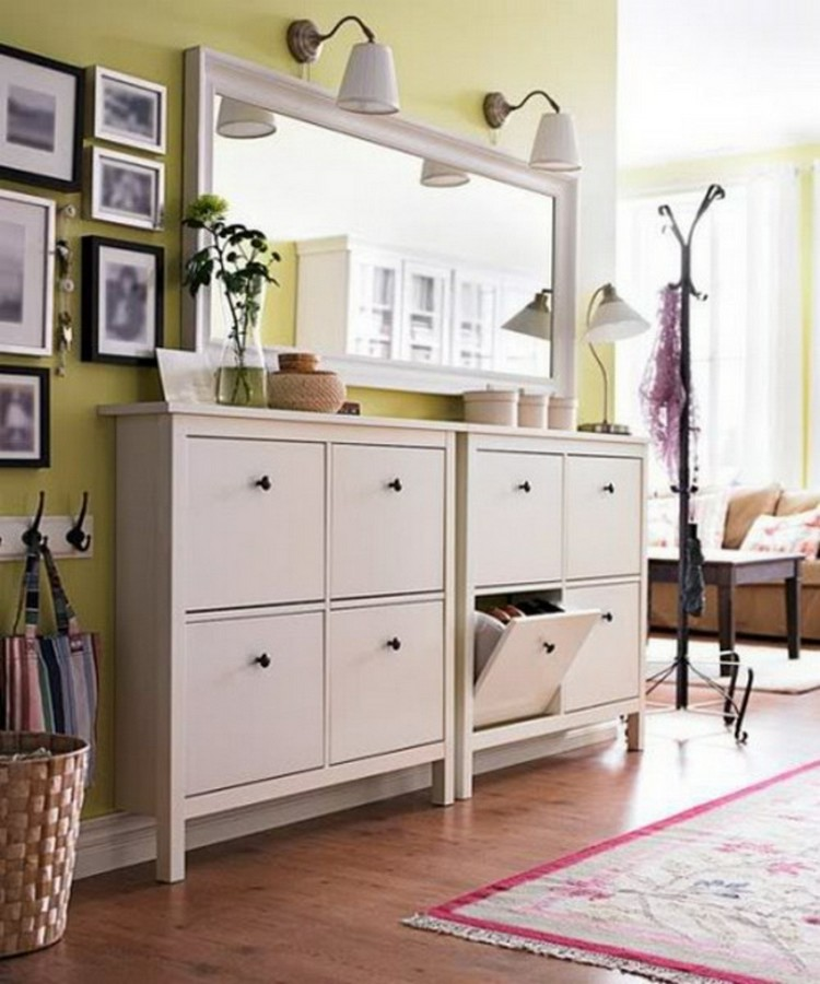 2-5-hallway-entry-room-entrance-hall-mudroom-interior-design-shoe-storage-ideas-cabinet-white-compartments-rectangular-mirror-traditional-style-yellow-walls