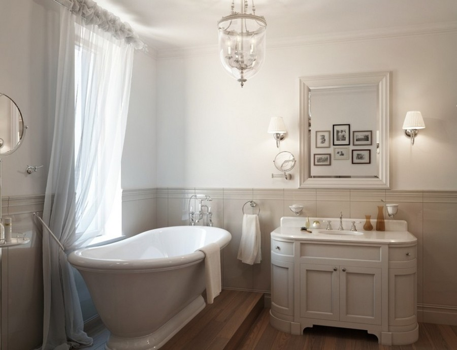 2-French-style-bathroom-interior-design-ideas-light-pastel-colors-romantic-wash-basin-vanity-unit-bathtub-free-standing-oval-cabinet-sheer-curtains-drapery-airy-sconces