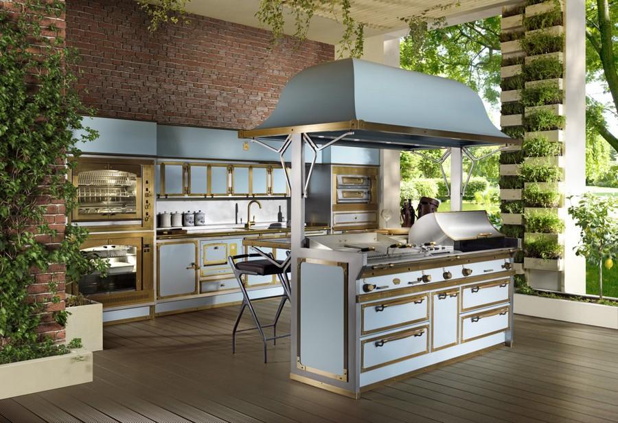 Fresh  Pacific Light Blue kitchen suite set by