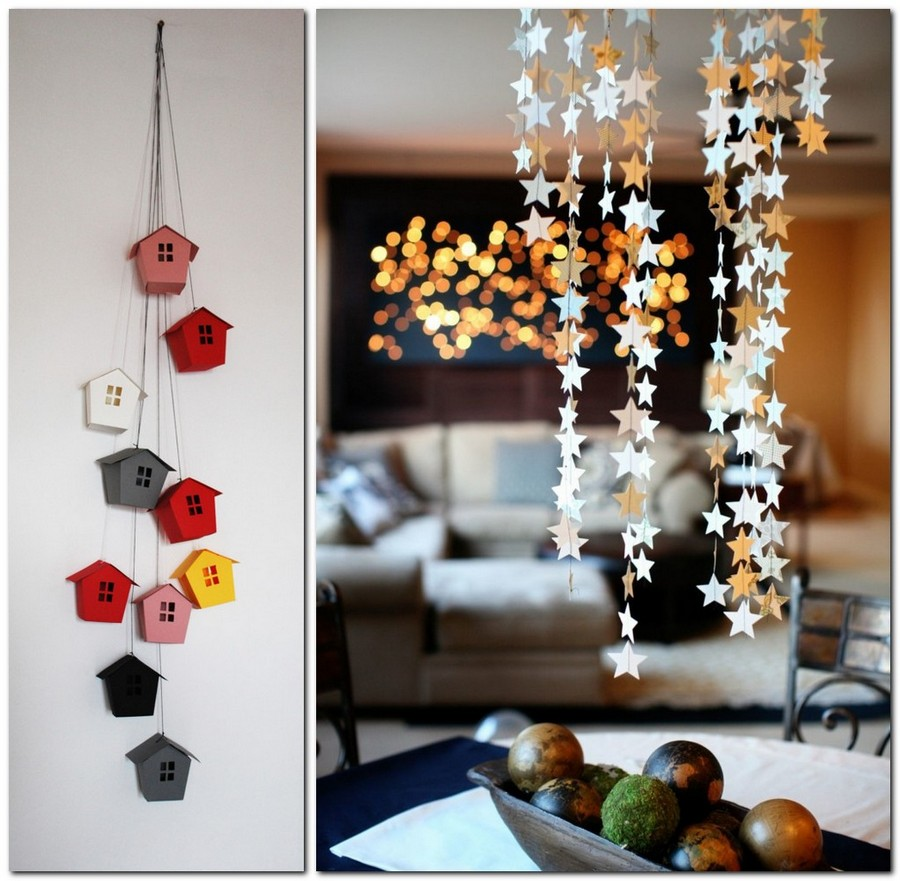 Paper garlands home d cor that makes you happier home for Handmade home decorations ideas