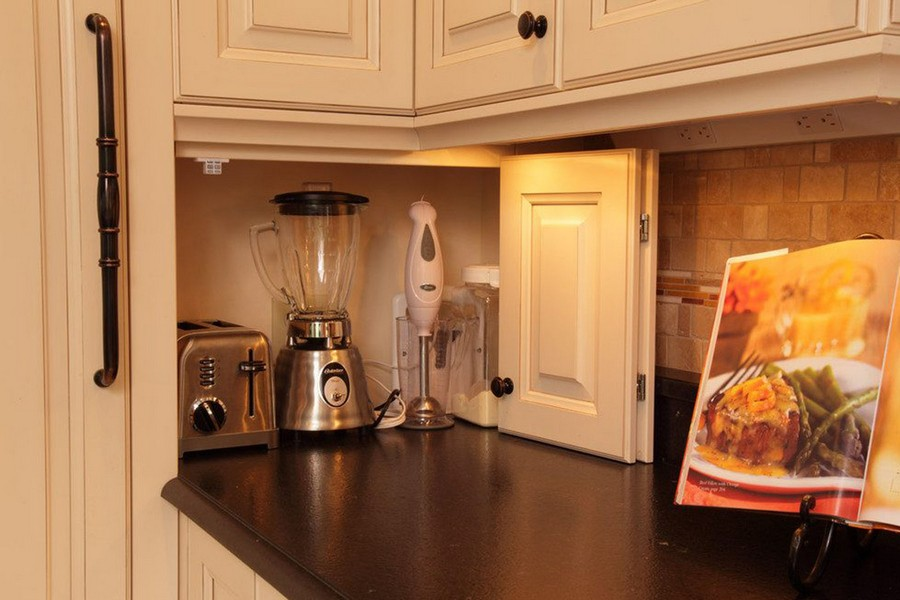 2-kitchen-storage-ideas-blender-mixer-toaster-electric-appliances-kept-on-worktop-countertop-corner-cabinet-beige-set-book-holder-stand