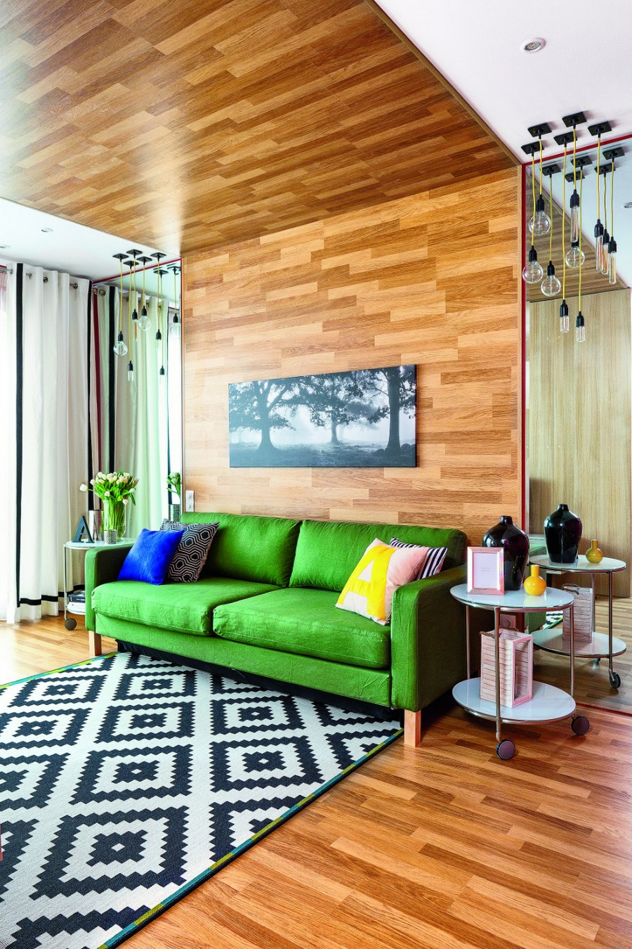 Home Interior Design For Living Room: Wooden Ceiling Décor: 20 Unhackneyed Ideas (Part 1)