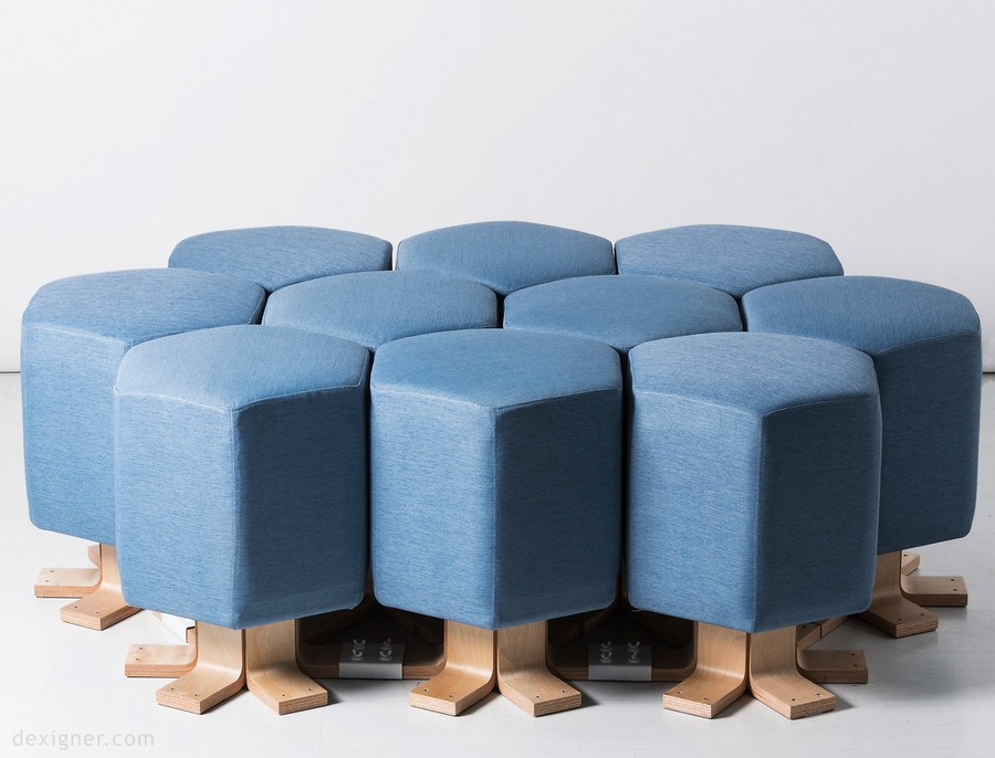 3-0-lift-bit-Italy-Vitra-Carlo-Ratti-design-modular-smart-seat-sofa-remote-digitally-transformable-controlled-furniture-upholstered-hexagonal-geometric