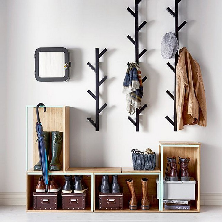 Shoe storage ideas most simple ergonomic hallway for Interior cupboard designs for hall