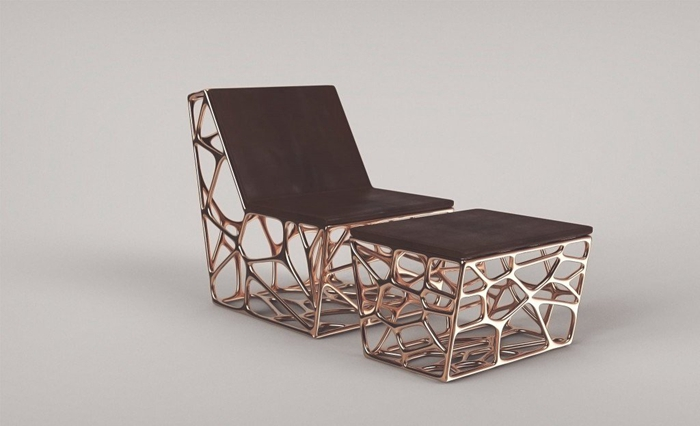3-3-3D-printed-furniture-made-on-3D-printer-bronze-metal-cast-by-Ventury-Paris-France-French-design-arm-chair-with-footrest