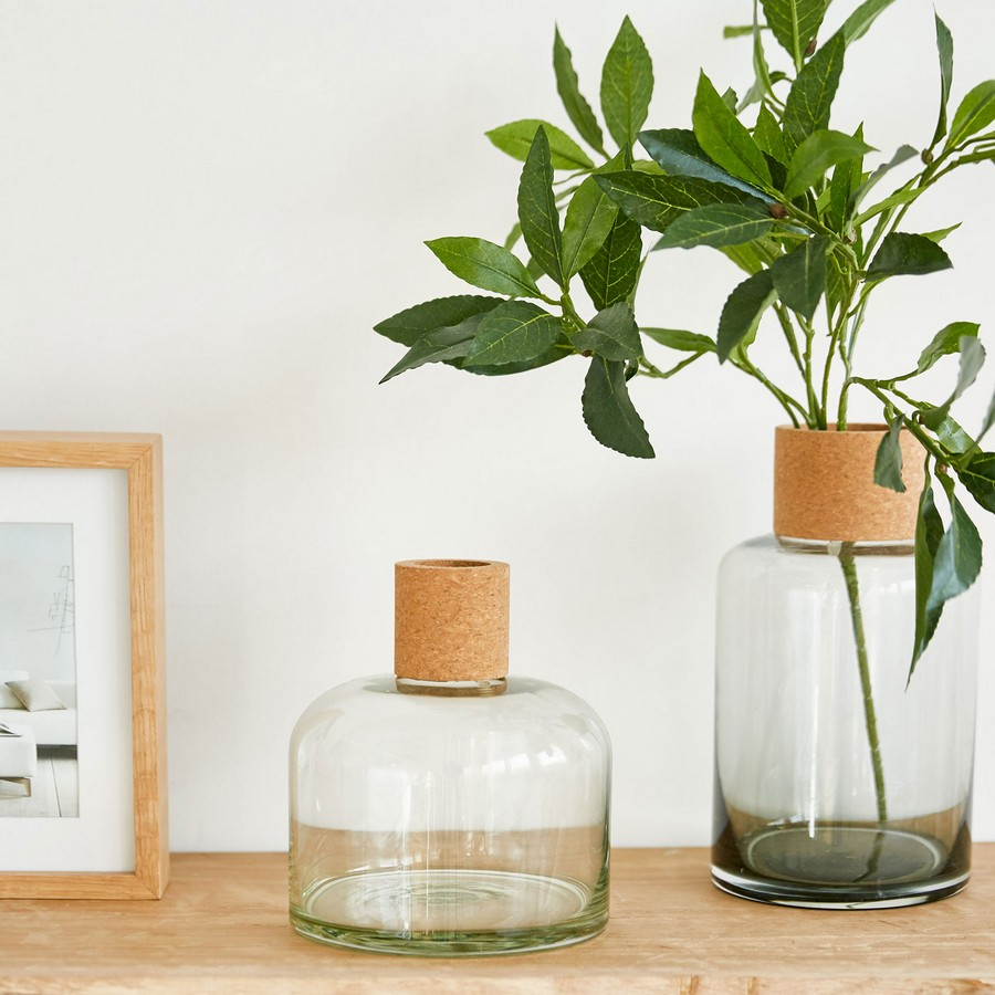 3-eco-style-Scandinavian-style-glass-flower-vases-with-cork-necks-bottles-by-Zara-Home-cork-wood-home-decor-accessories