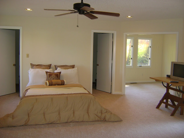 3-traditional-style-bedroom-light-beige-walls-bed-adjoining-room-mattress-ceiling-fan-writing-desk-white-doors