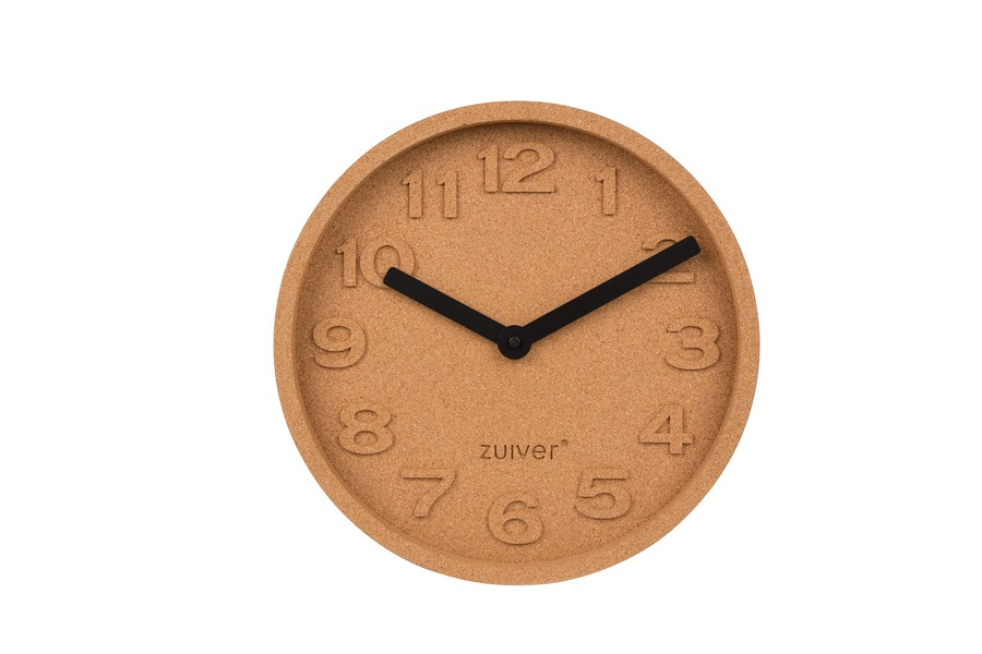 4-1-eco-style-cork-time-clock-by-zuiver-with-cork-face-matte-and-painted-black-aluminum-hands-cork-wood-home-decor-accessories