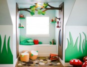 Magical Kid's Playroom Designed in Style of a Forest Fairy-Tale