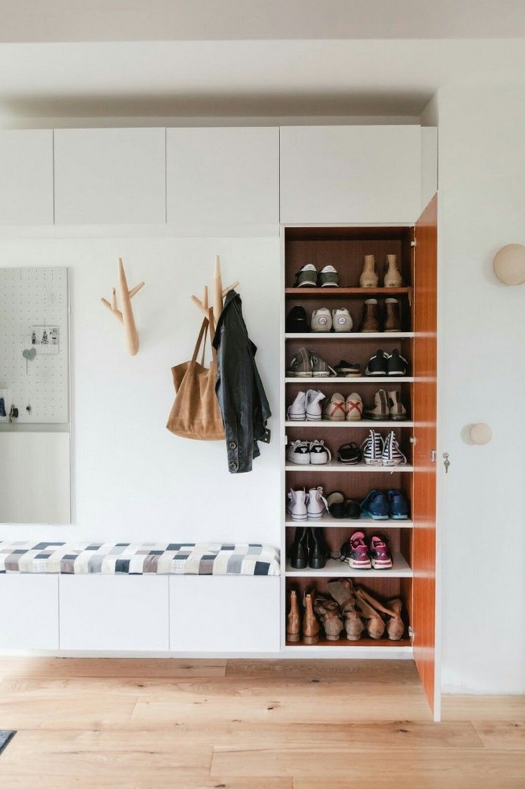 shoe storage ideas most simple ergonomic hallway solutions home interior design kitchen. Black Bedroom Furniture Sets. Home Design Ideas