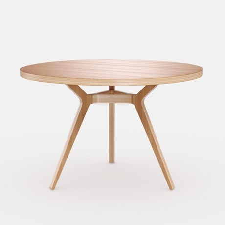 6-1-Täby-round-dining-table-3-inclined-sloped-legs-natural-wood-top