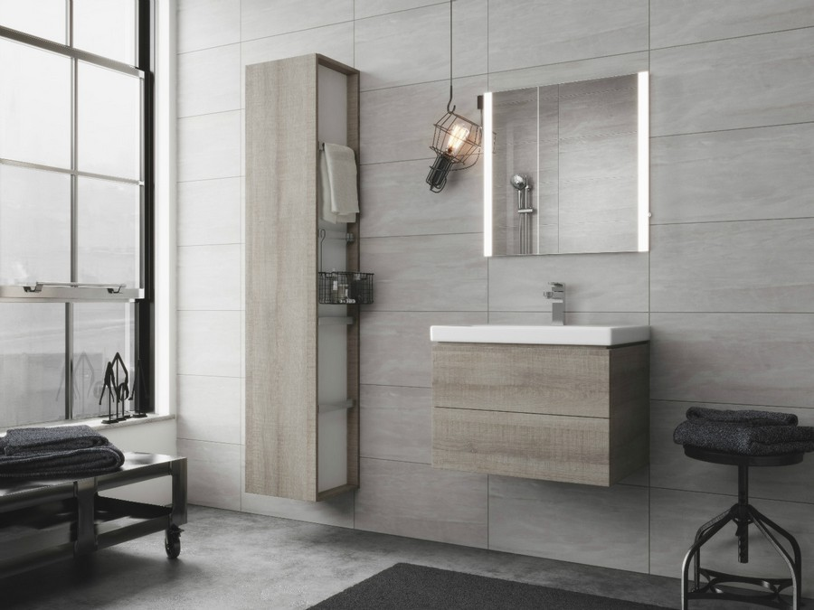 6-4-Cersanit-beige-bathroom-interior-design-wash-basin-vanity-unit-bathtub-toilet-loft-style-motifs-stool-wall-mounted-cabinets-backlit-mirror-wheeled-whatnot-bulb