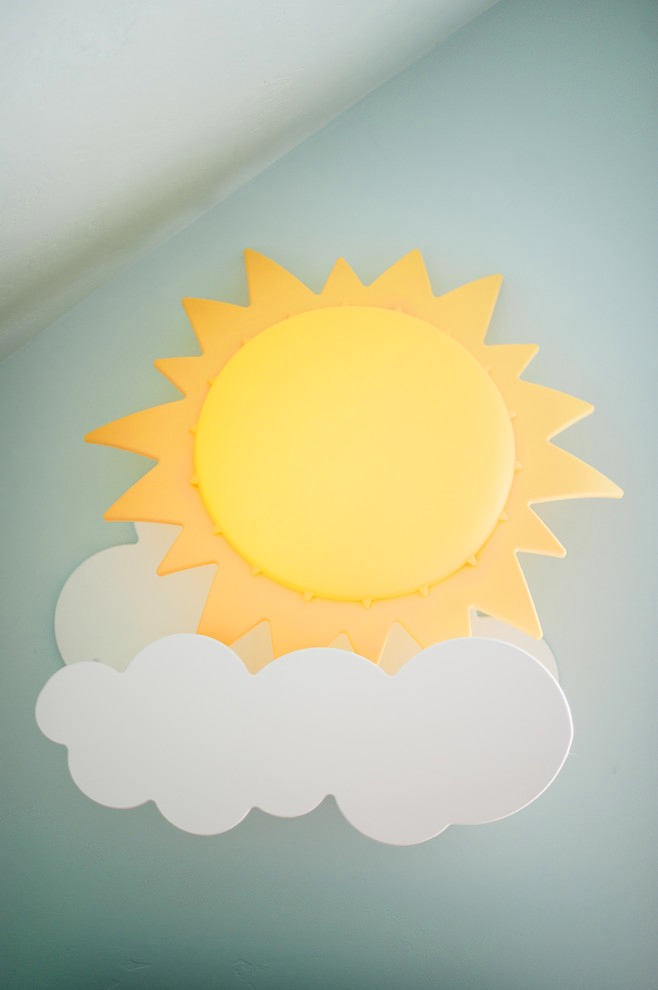 6-re-made-decorated-wall-lamp-sconce-by-IKEA-kid's-sun-shaped-lamp-on-cloud