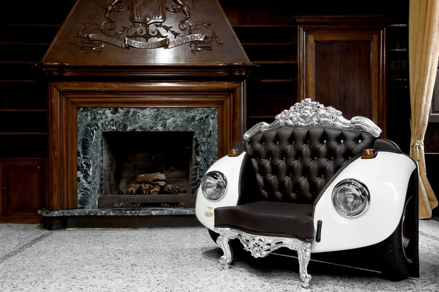 7-1-creative-interesting-non-standard-furniture-design-baroque-classical-eclectic-style-arm-chair-retro-beetle-volkswagen-vw-car-shaped-black-leather-white-arm-rests