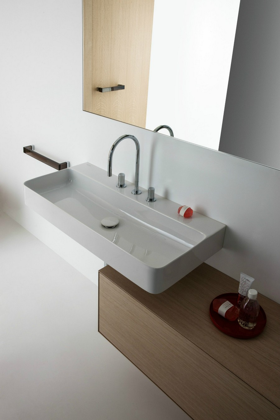 7-3-Laufen-beige-bathroom-interior-design-wash-basin-vanity-unit-wall-mounted-wooden-cabinet-mirror-rectangular-sink-towel-holder