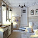 7-French-style-bathroom-interior-design-ideas-light-pastel-colors-romantic-wash-basin-white-furniture-vanity-unit-toilet-bidet-vintage-black-lamps-windows-stairs-radiator-floral-wall-tiles
