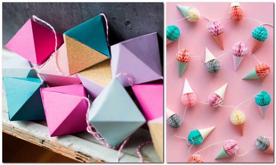 7-handmade-colored-paper-garlands-ideas-home-decor-party-holiday-diamonds-ice-creams-corrugated-goffred-wrapping-paper