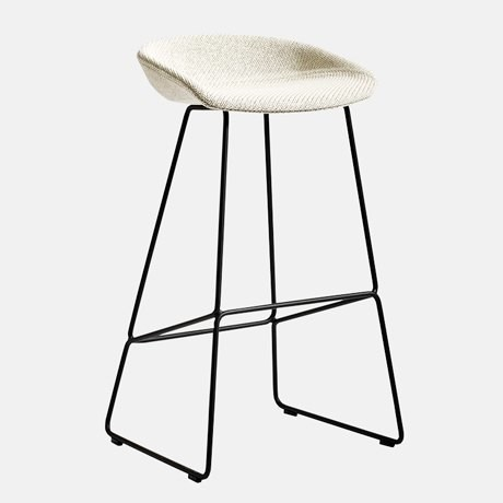 8-1-AAS-3839-Bar-Stool-design-by-Hee-Welling-white-seat-black-metal-frame