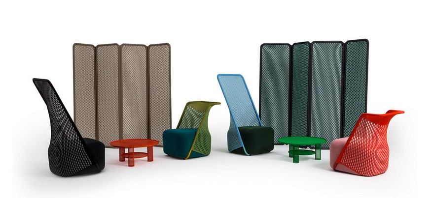 8-Cradle-Moroso-design-by-Benjamin-Hubert-minimalistic-minimalist-style-furniture-red-arm-chair-innovative-net-upholstery-fabric-stretchy-interior-room-dividers-collection-screens-green-coffee-tables-blue