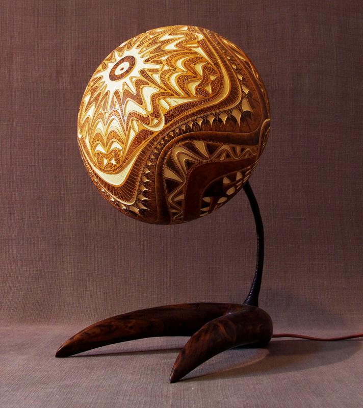 Calabarte-table-lamp-XII-1-handmade-carved-hand-crafted-light-by-Przemek-Krawczyński-Poland -from-natural-materials