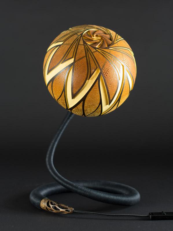 Table-lamp-XXVI-day-3-handmade-carved-hand-crafted-light-by-Przemek-Krawczyński-Poland -from-natural-materials