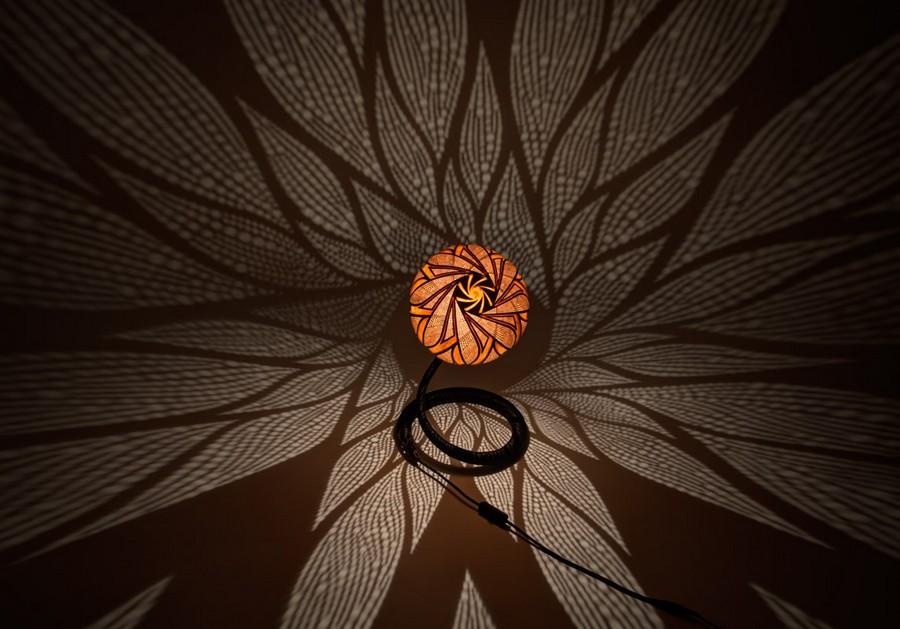 Table-lamp-XXVI-night-1-handmade-carved-hand-crafted-light-by-Przemek-Krawczyński-Poland -from-natural-materials