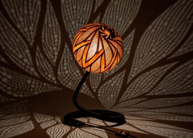 Table-lamp-XXVI-night-6-handmade-carved-hand-crafted-light-by-Przemek-Krawczyński-Poland -from-natural-materials