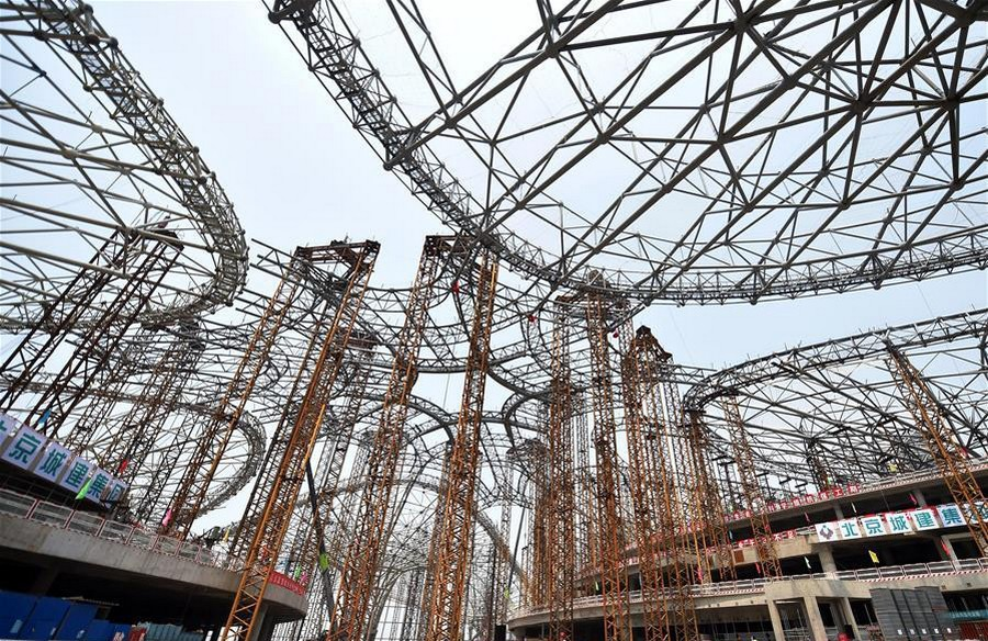 1-2-world's-biggest-airport-to-be-in-China-Beijing-international-airport-construction-site-photos-framework-structure-building