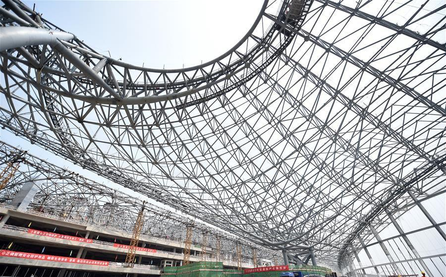 1-5-world's-biggest-airport-to-be-in-China-Beijing-international-airport-construction-site-photos-framework-structure-building