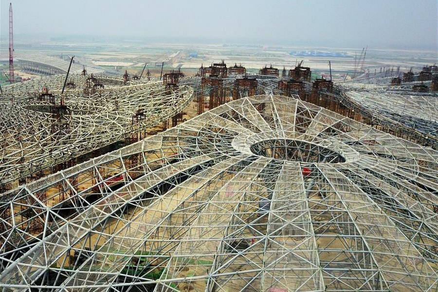 1-6-world's-biggest-airport-to-be-in-China-Beijing-international-airport-construction-site-photos-framework-structure-building